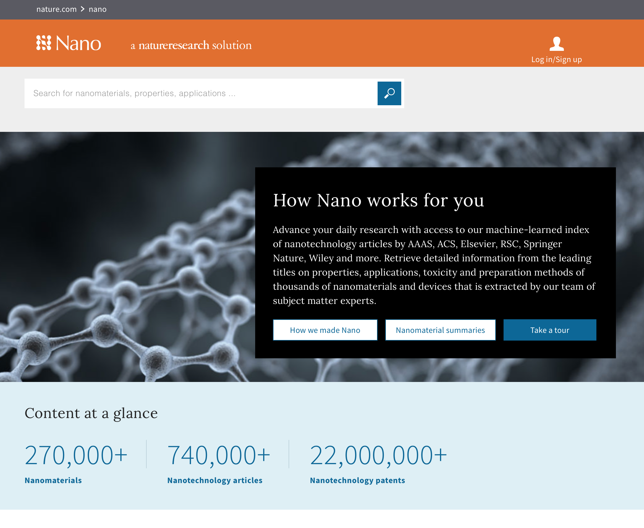 The front page of Nature Nano