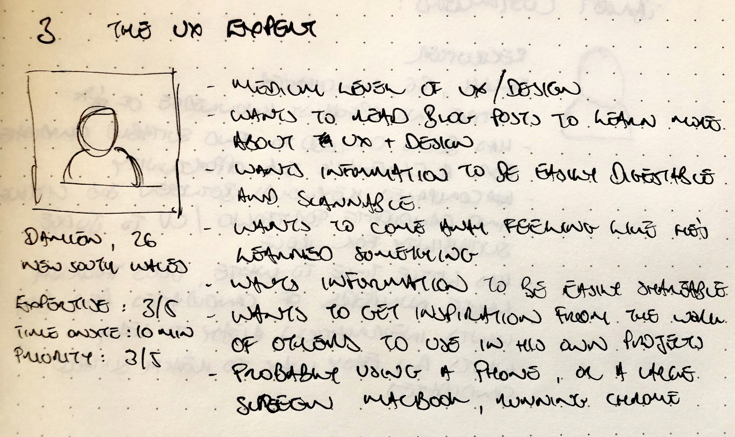SableIndustries sketch persona for UX reader
